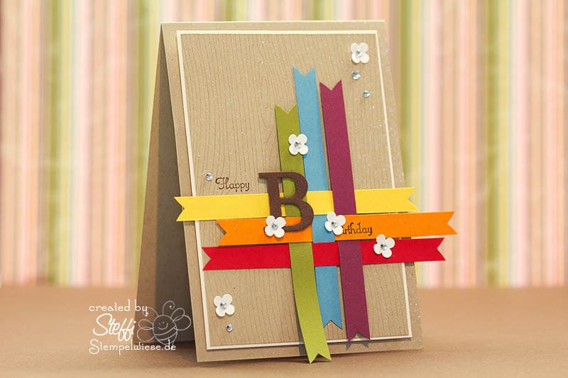 Geburtstagskarte in Regenbogenfarben 1