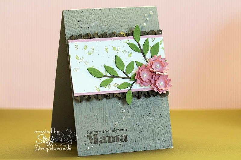 Muttertagskarte - zarter Zweig 1