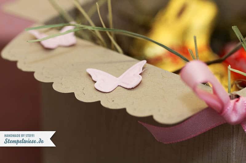Osterkörbchen aus Umschlag mit Zierlasche 3
