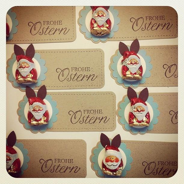 Osterkörbchen aus Umschlag mit Zierlasche 4