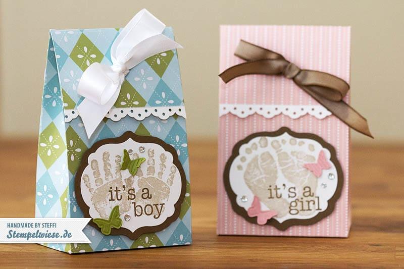 Verpackung für Babysöckchen oder ähnliches 1