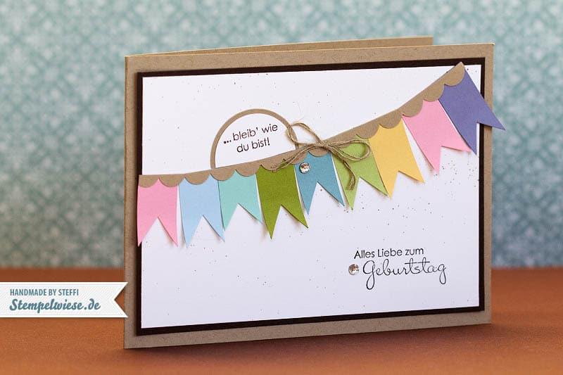 Geburtstagskarte mit bannerchen stempelwiese for Pinterest geburtstagskarte
