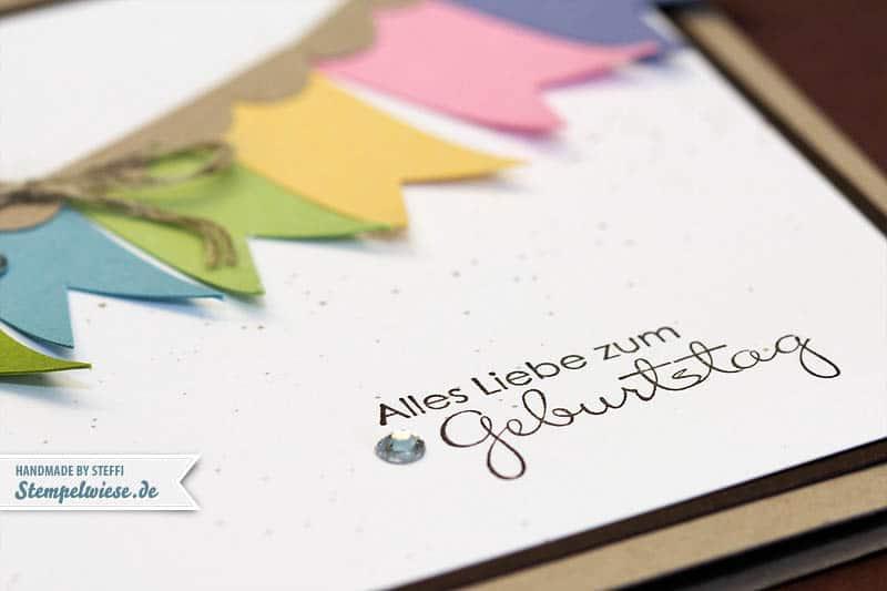 Geburtstagskarte mit Bannerchen 3