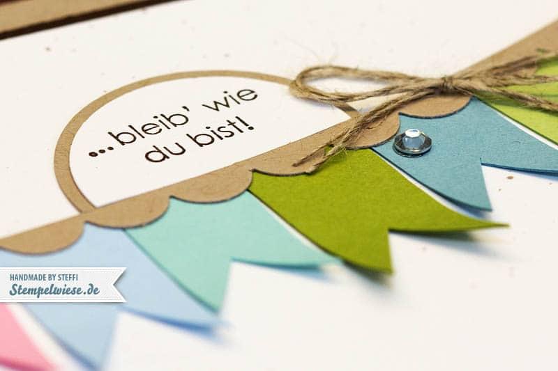Geburtstagskarte mit Bannerchen 2