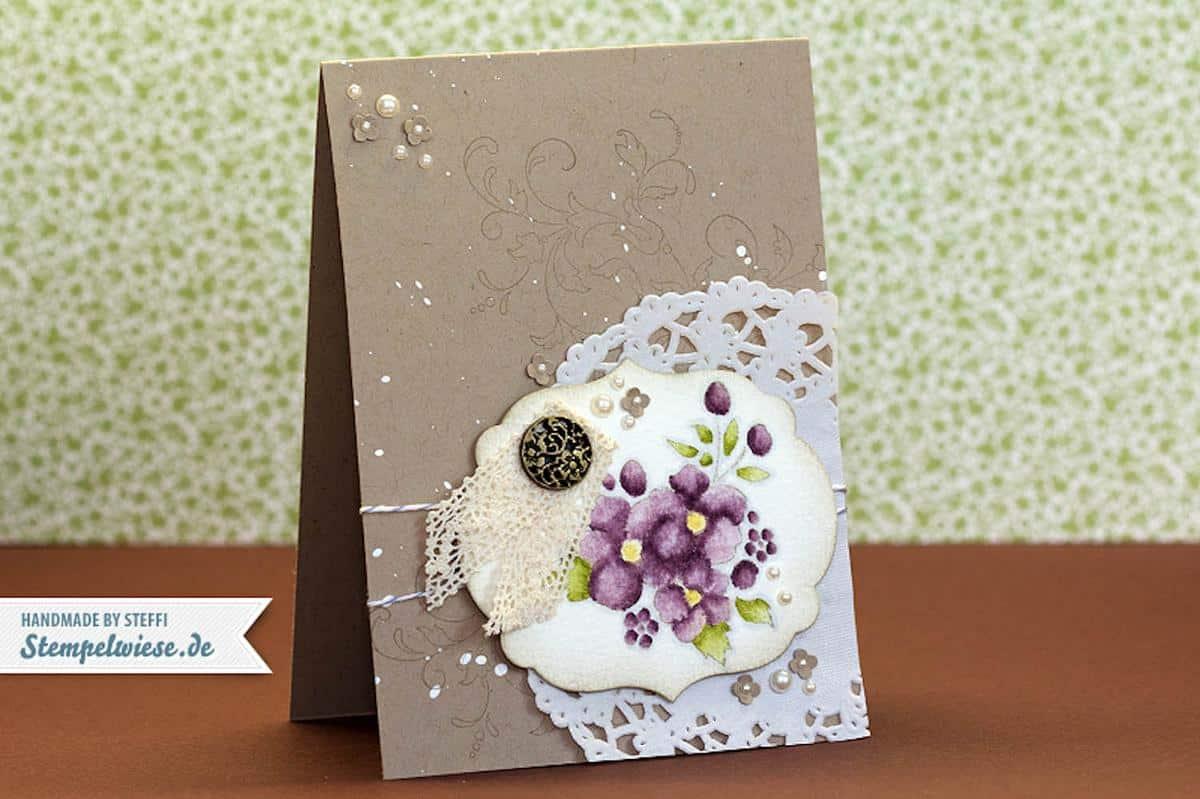 Glückwunschkarte mit Bordering on Romance 1