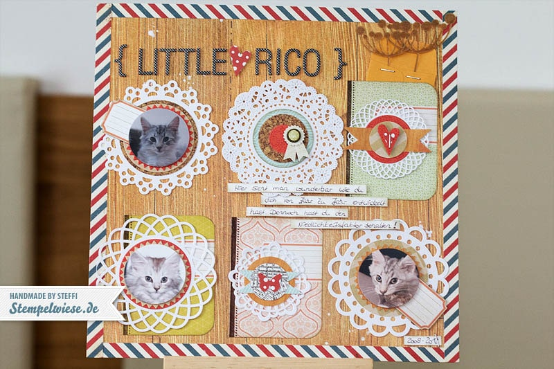 CAR4 - Scrapbook Seite - Little Rico 1