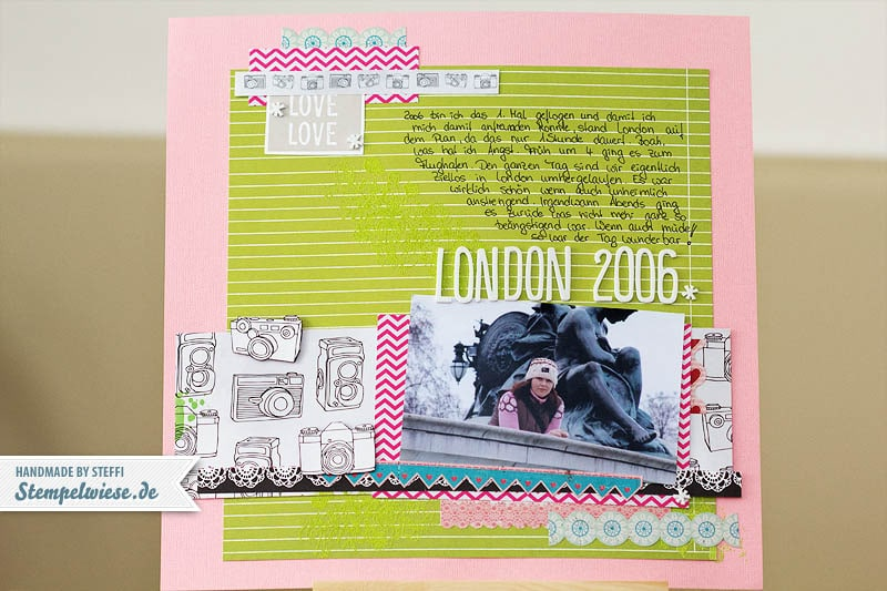 Scrapbook Seite - London 2006 1