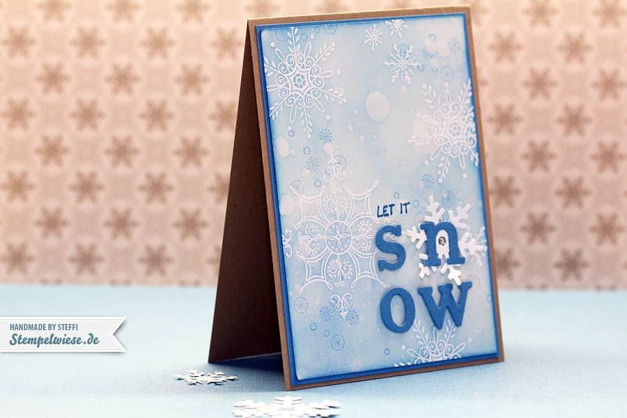 Weihnachtskarte - Serene Snowflakes 1