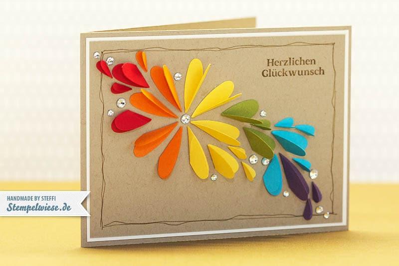 Geburtstagskarte in Farbe und Bunt 1