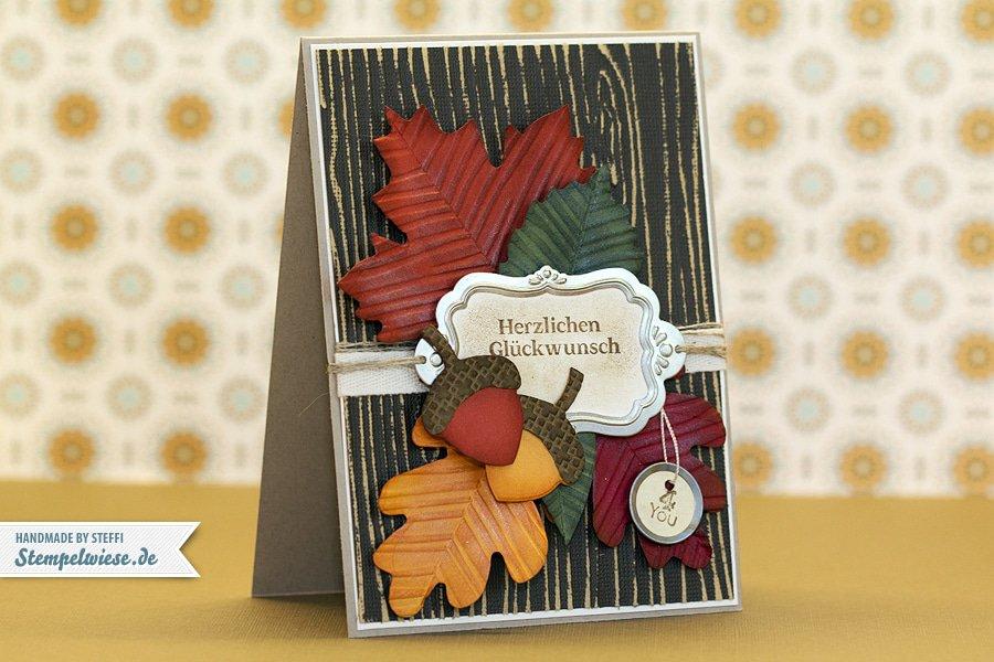 Herbstliche Geburtstagskarte 1