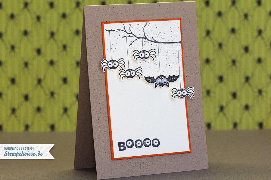 Halloween Karte - BOOOO 1