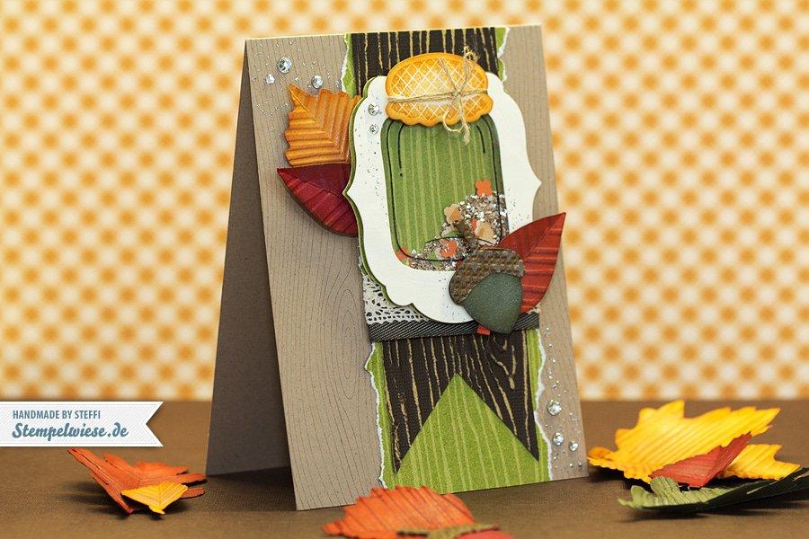 Herbstzauber - Grußkarte mit Liebe gemacht 1