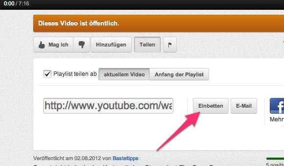 Blog Tipps - Wie füge ich Videos im Blog ein? 3