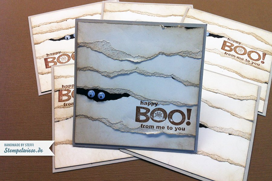 Halloween - Happy Boo - Mumienkarte 1