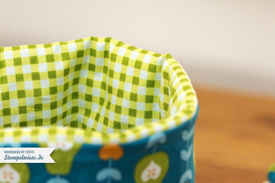Tisch Utensilo mit Stampin' Up! Stoffen 4