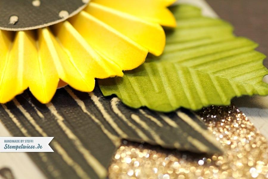 Geburtstagskarte mit Sonnenblume 2
