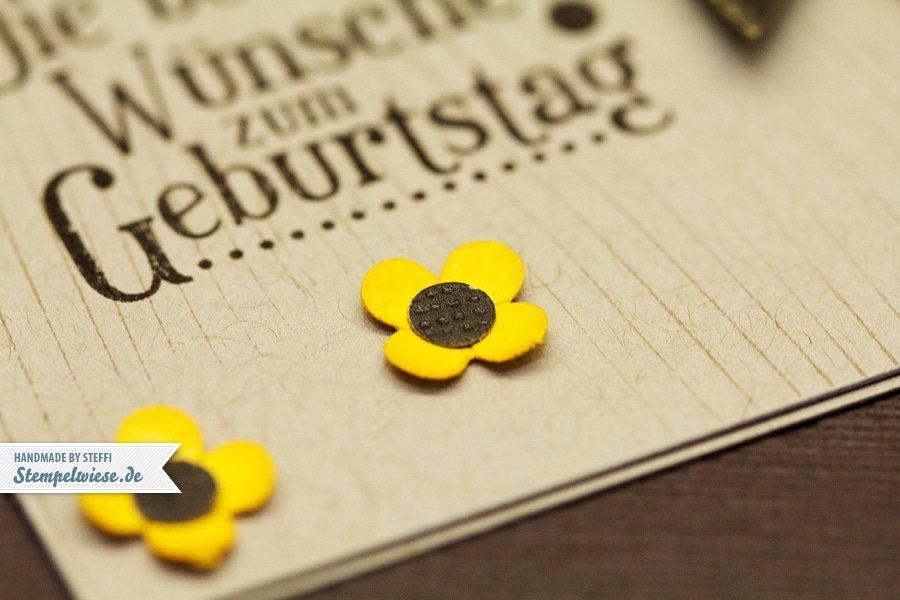Geburtstagskarte mit Sonnenblume 3