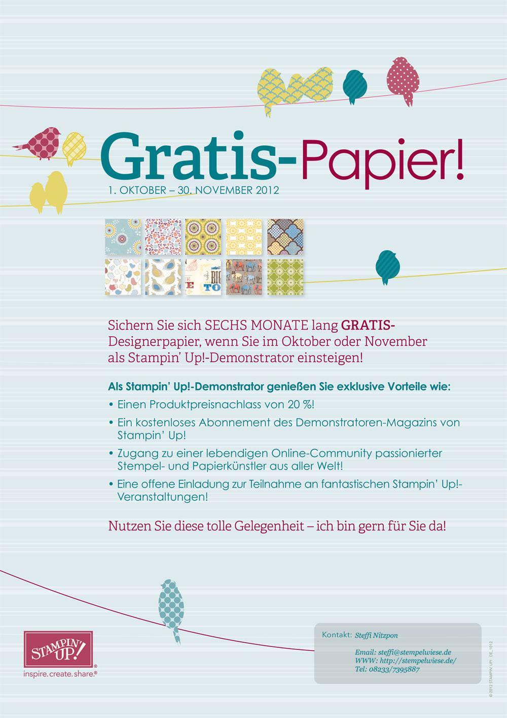Gratis Designpapier - Jetzt einsteigen 1