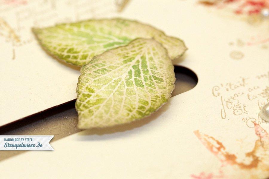 Kullerkarte mit French Foliage 2