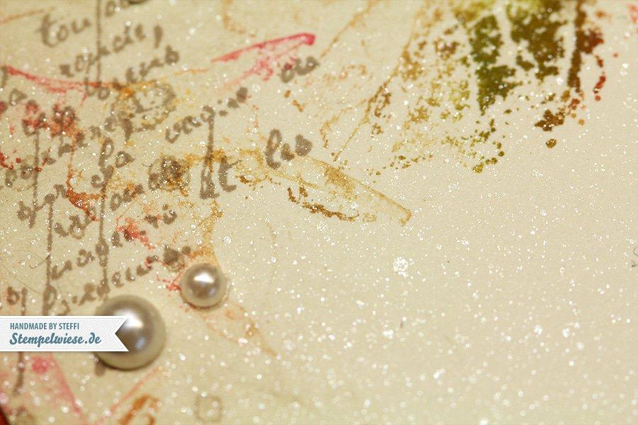 Kullerkarte mit French Foliage 3