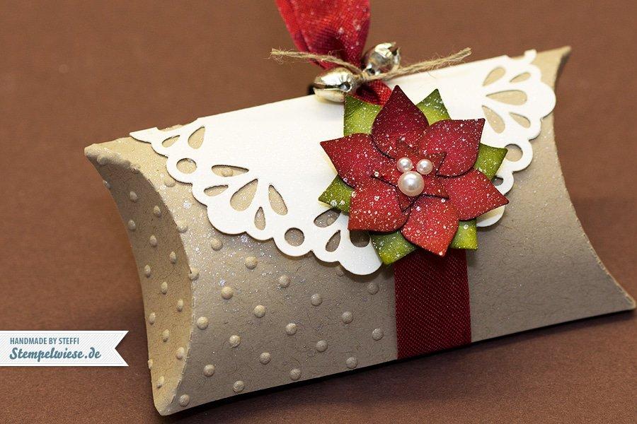 Pillow Box mit Weihnachtsstern - Stampin' Up! ♥ Stempelwiese