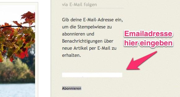 Per Email die neusten Beiträge von Stempelwiese 1