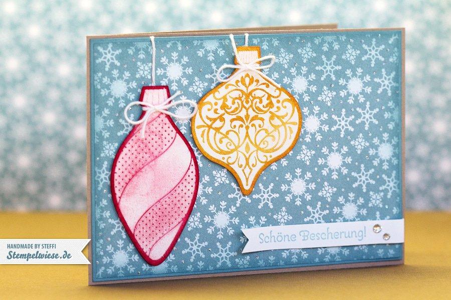 Weihnachtskarte mit Ornament Keepsakes 1