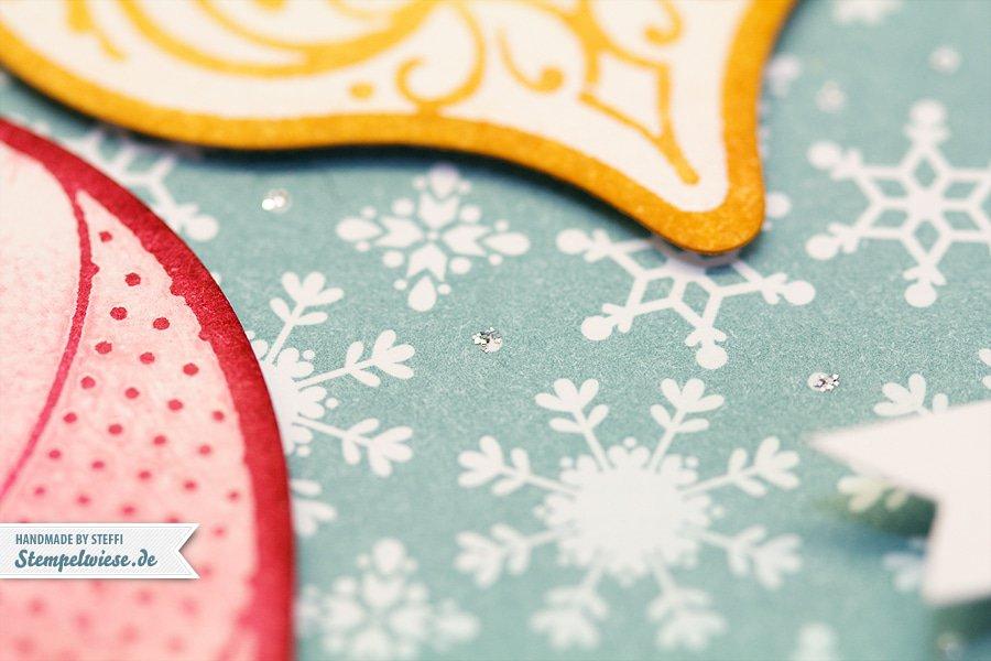 Weihnachtskarte mit Ornament Keepsakes 3