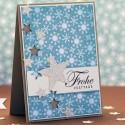 Weihnachtskarte - FroheFesttage ♥ Stempelwiese