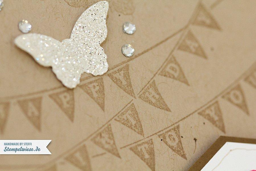 Geburtstagskarte - Wimpel - Stampin' Up! ♥ Stempelwiese