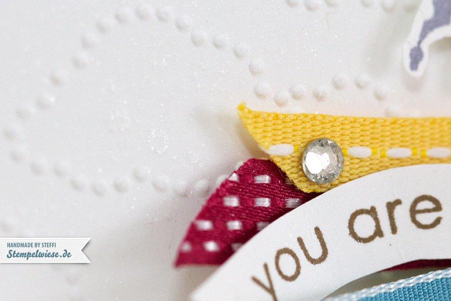 Grußkarte - Rainbow - Bänder - Stampin' Up! ♥ Stempelwiese