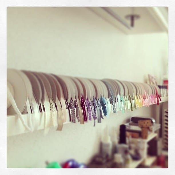 Geschenkbänder aufbewahren / organisieren ♥ Stempelwiese