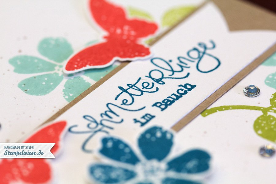 Grußkarte - Frühlingsgefühle ♥ Stempelwiese