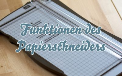 Video – Funktionen des Papierschneiders