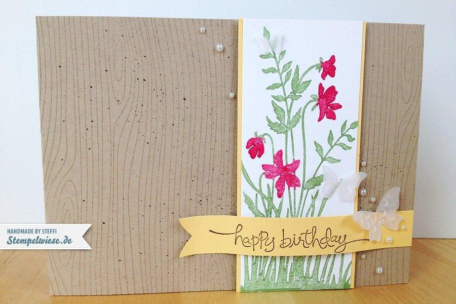 Geburtstagskarte - Glaube Einfach ♥ Stempelwiese