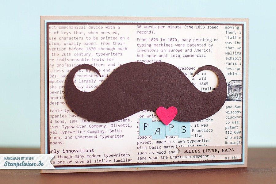 Vatertag Karte mit Mustache - Stampin' Up! ♥ Stempelwiese