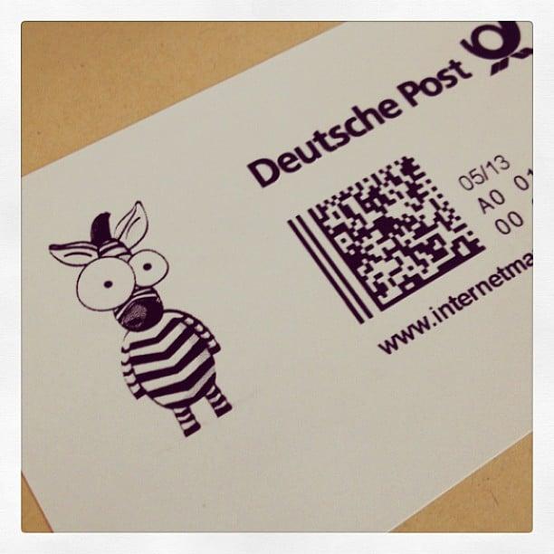 Briefmarke #stempelwiese
