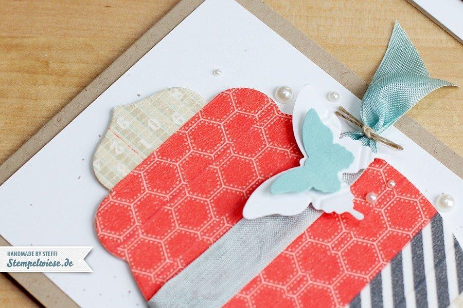 Grußkarte mit Washi Tape (Motivklebeband) ♥ Stempelwiese