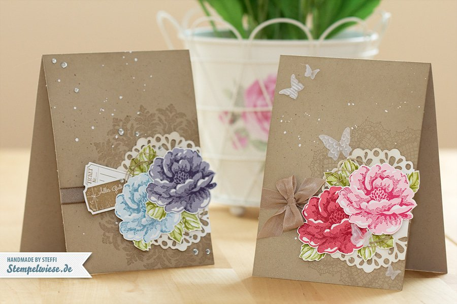 Muttertagskarte - Stippled Blossom - Stampin' Up! ♥ Stempelwiese