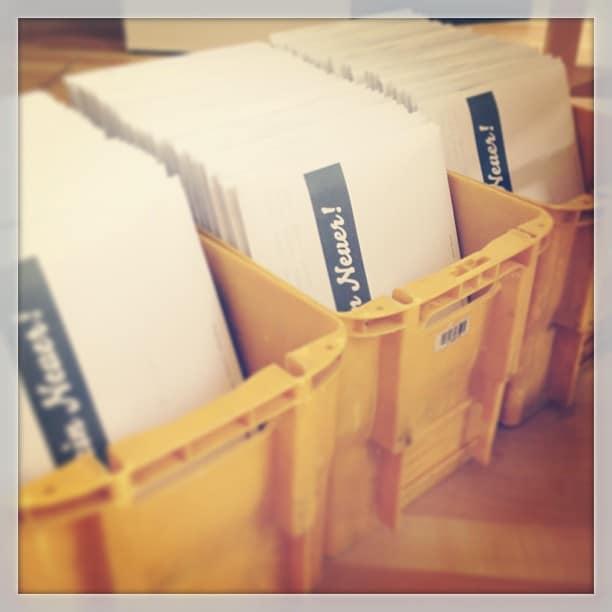 Die ersten Kataloge gehen auf Reisen #stampinup #stempelwiese