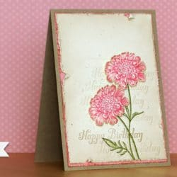 Geburtstagskarte - Shabby Chic 4