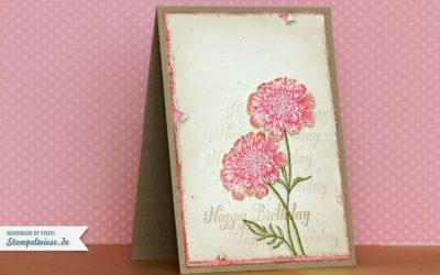 Geburtstagskarte – Shabby Chic