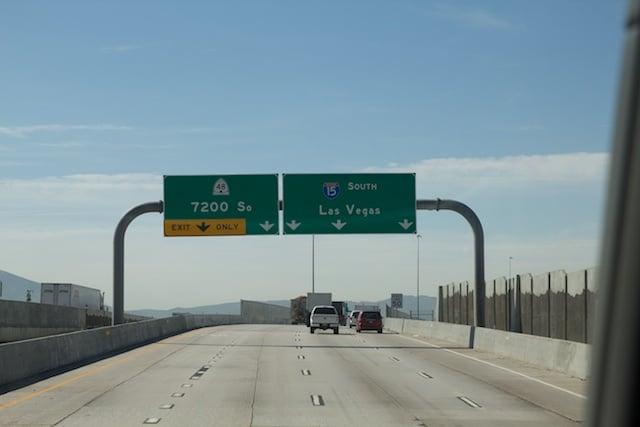 Abfahrt Las Vegas