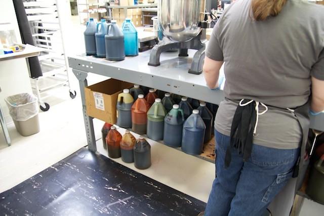 Stempelfarben in Flaschen