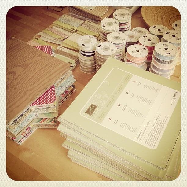 Papier und Bänder #share #stempelwiese