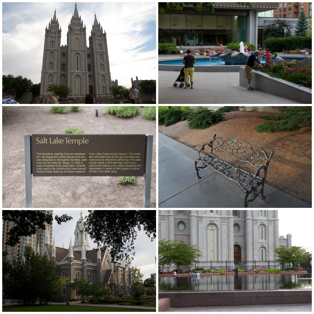 Salt Lake Tempel Collage