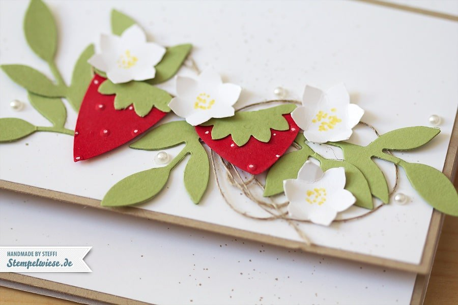 Gutscheintasche - Erdbeer