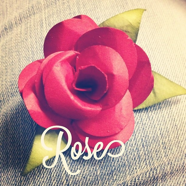 3D Rose aus Papier #stampinup #stempelwiese
