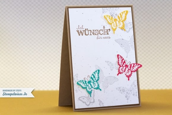 Geburtstagskarte Papillon Potpourri