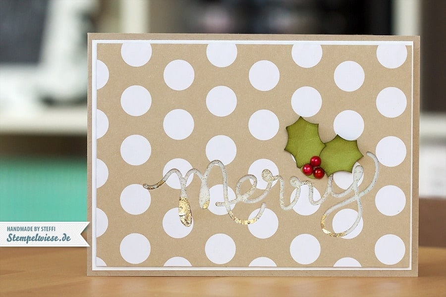 Weihnachtskarte - Shaker Card